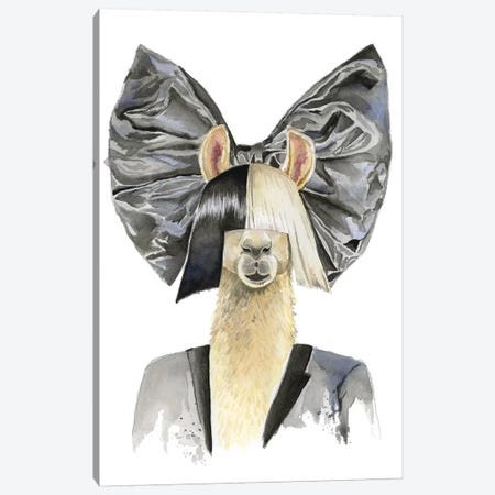 Sia Llama Canvas Print #HPE36} by Heather Perry Canvas Artwork