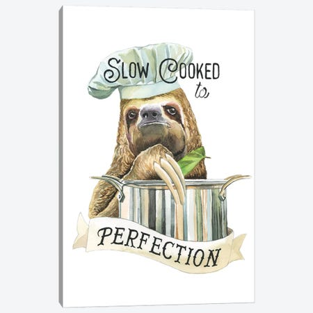 Slow Cooked Sloth Canvas Print #HPE37} by Heather Perry Canvas Wall Art