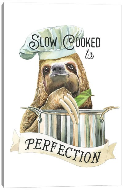 Slow Cooked Sloth Canvas Art Print