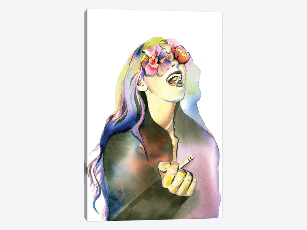 Smoker by Heather Perry 1-piece Canvas Art Print