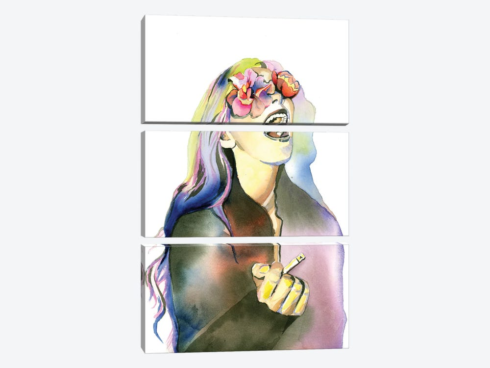 Smoker by Heather Perry 3-piece Canvas Art Print