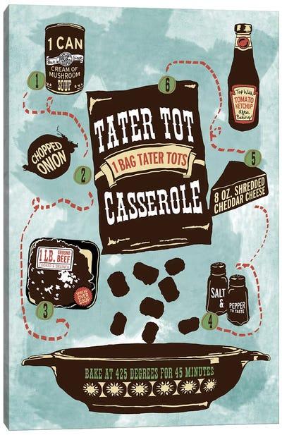 Tater Tot Casserole Canvas Art Print
