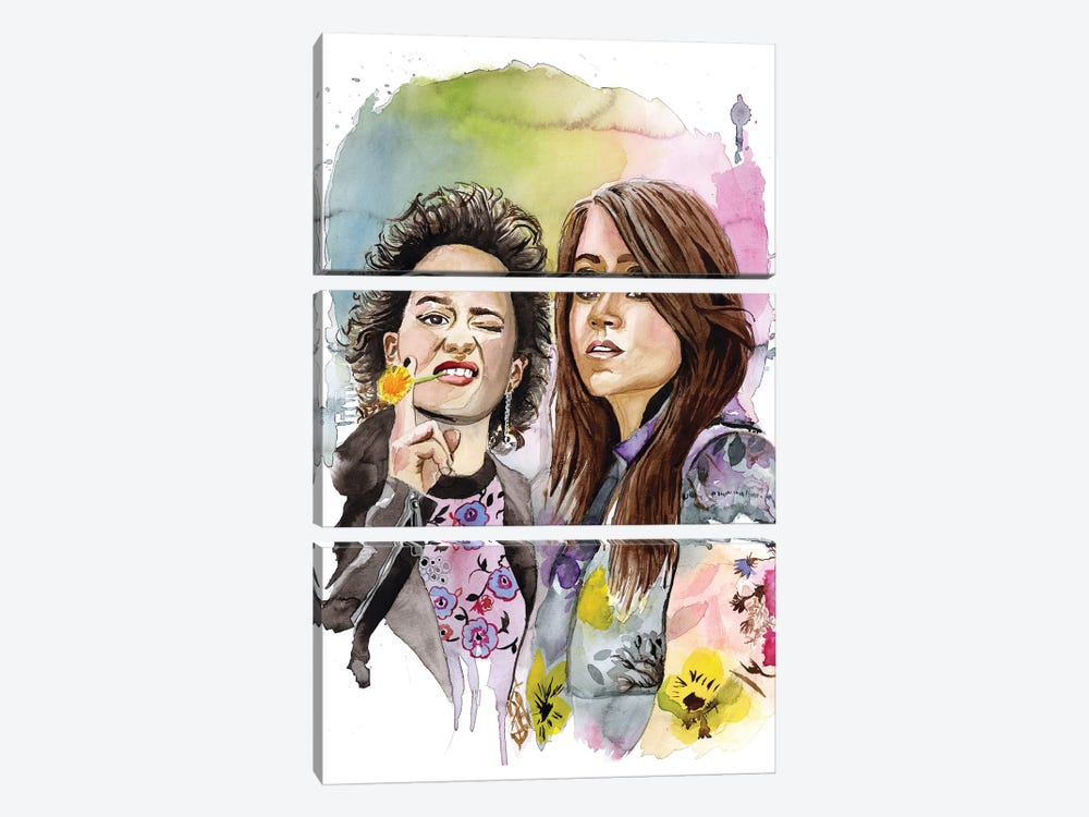 Abbi And Ilana by Heather Perry 3-piece Art Print