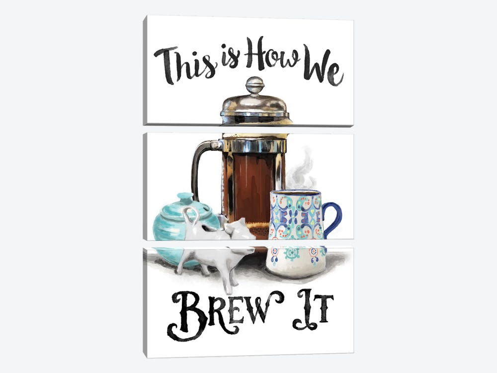 This Is How We Brew It by Heather Perry 3-piece Canvas Artwork