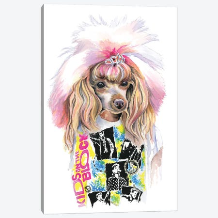 Valley Girl Puppy Canvas Print #HPE42} by Heather Perry Canvas Art