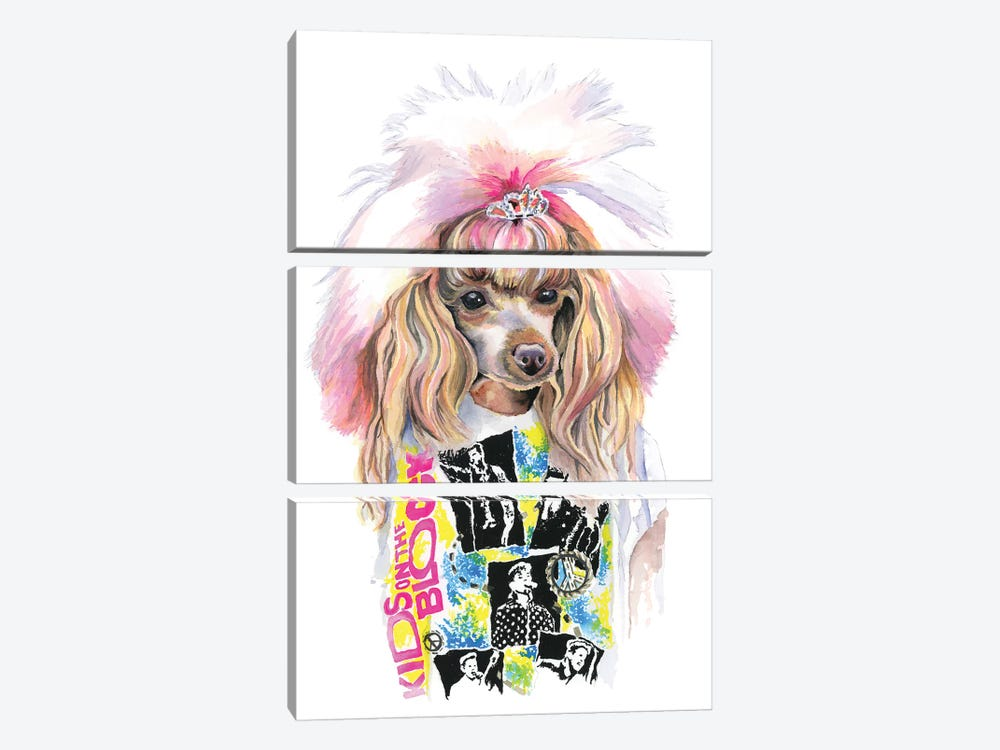 Valley Girl Puppy by Heather Perry 3-piece Canvas Art