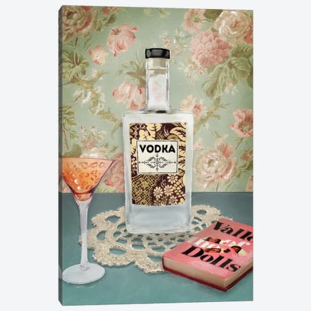 Vodka Still Life Canvas Print #HPE45} by Heather Perry Canvas Art Print
