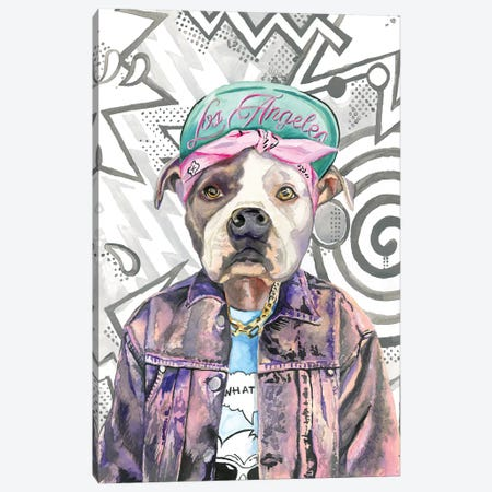 What's Up Dog Canvas Print #HPE46} by Heather Perry Art Print