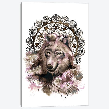 Wolf Canvas Print #HPE47} by Heather Perry Art Print