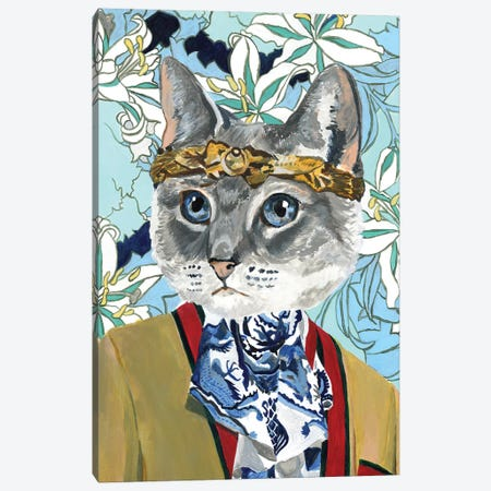 Gucci Cat Canvas Print #HPE49} by Heather Perry Canvas Artwork