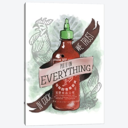 An Ode To Sriracha Canvas Print #HPE4} by Heather Perry Canvas Wall Art