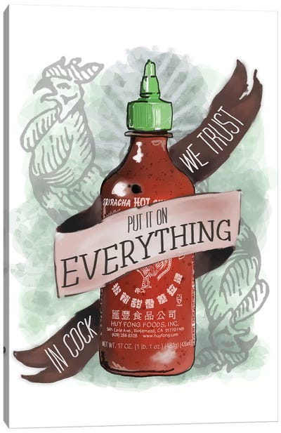 An Ode To Sriracha Canvas Art Print