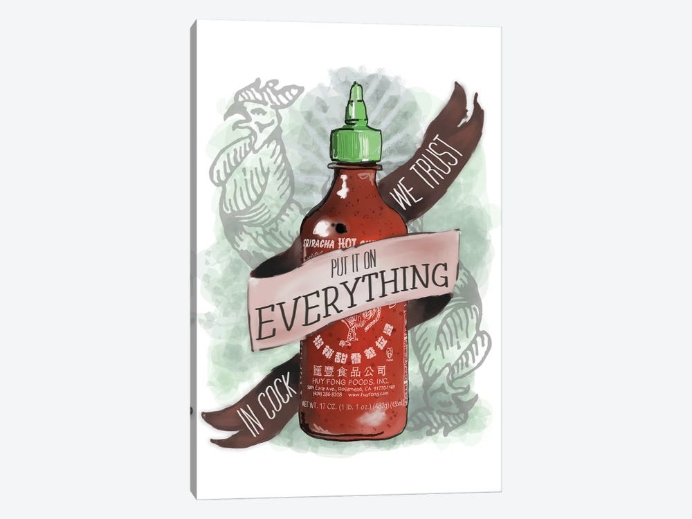 An Ode To Sriracha by Heather Perry 1-piece Canvas Art