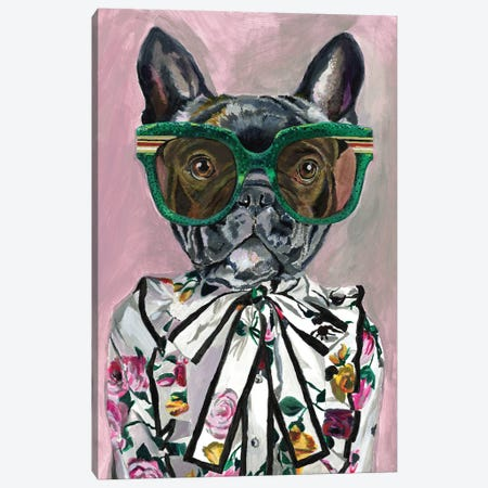 Gucci Frenchie Canvas Print #HPE50} by Heather Perry Canvas Print