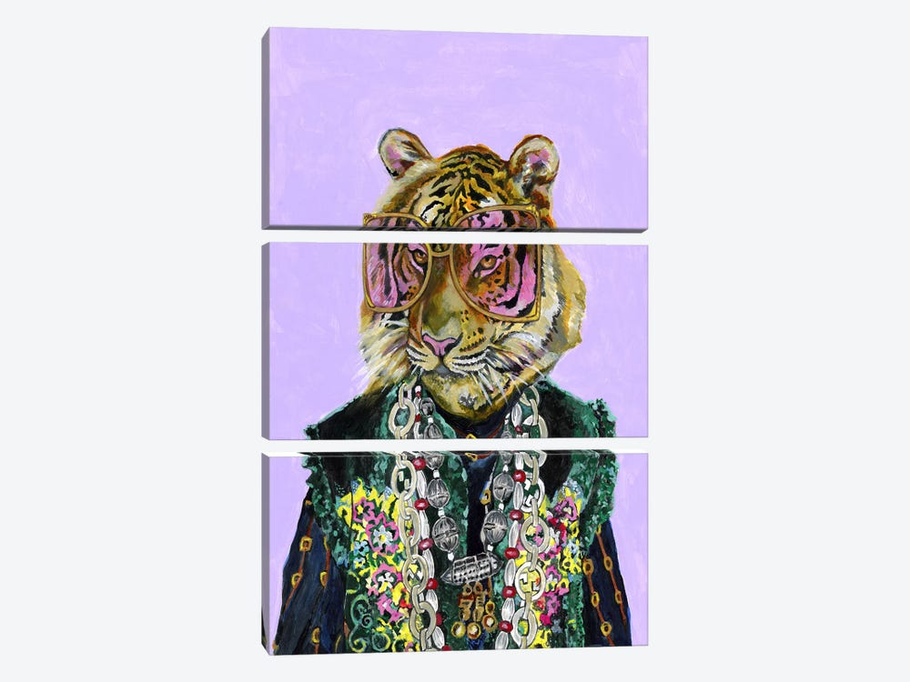Gucci Bengal Tiger by Heather Perry 3-piece Canvas Art