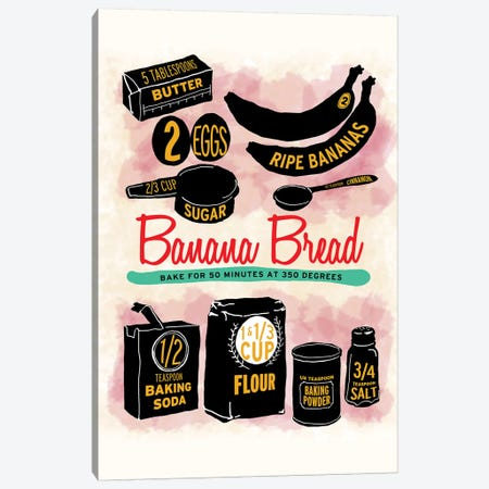 Banana Bread Canvas Print #HPE5} by Heather Perry Canvas Artwork