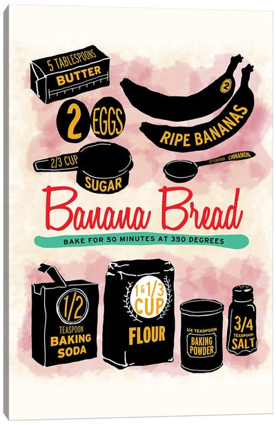 Banana Bread Canvas Art Print