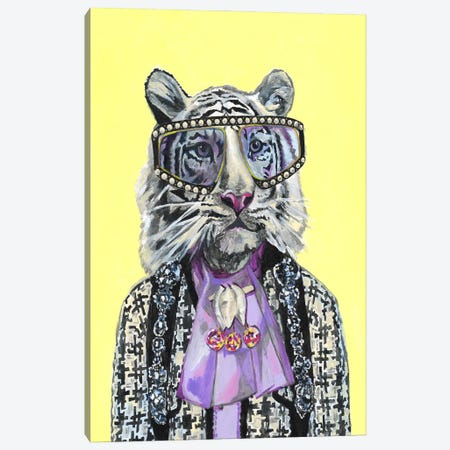 Gucci White Tiger Canvas Print #HPE60} by Heather Perry Canvas Art