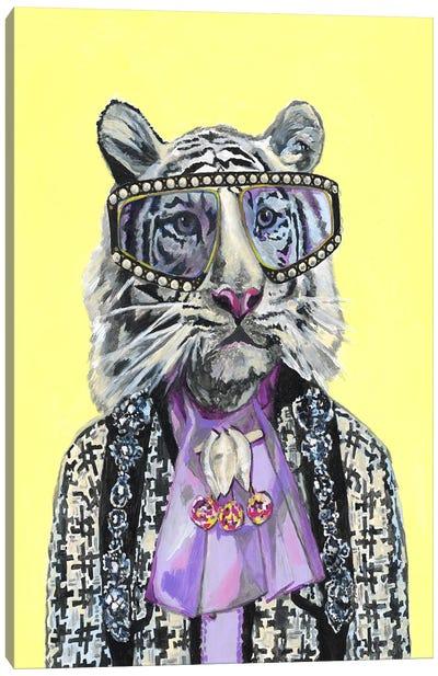 Gucci White Tiger Canvas Art Print