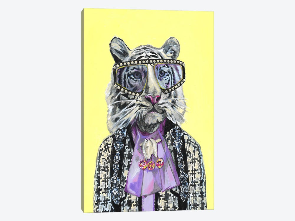 Gucci White Tiger by Heather Perry 1-piece Canvas Artwork