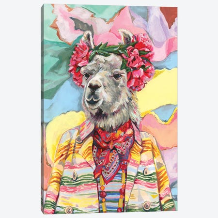 Desert Llama Canvas Print #HPE67} by Heather Perry Canvas Print