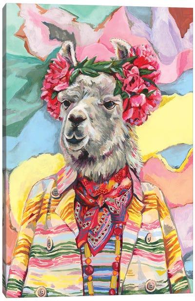 Desert Llama Canvas Art Print