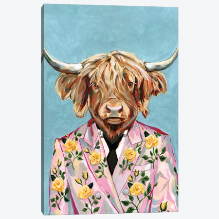 Gucci Cow Canvas Print #HPE71} by Heather Perry Art Print