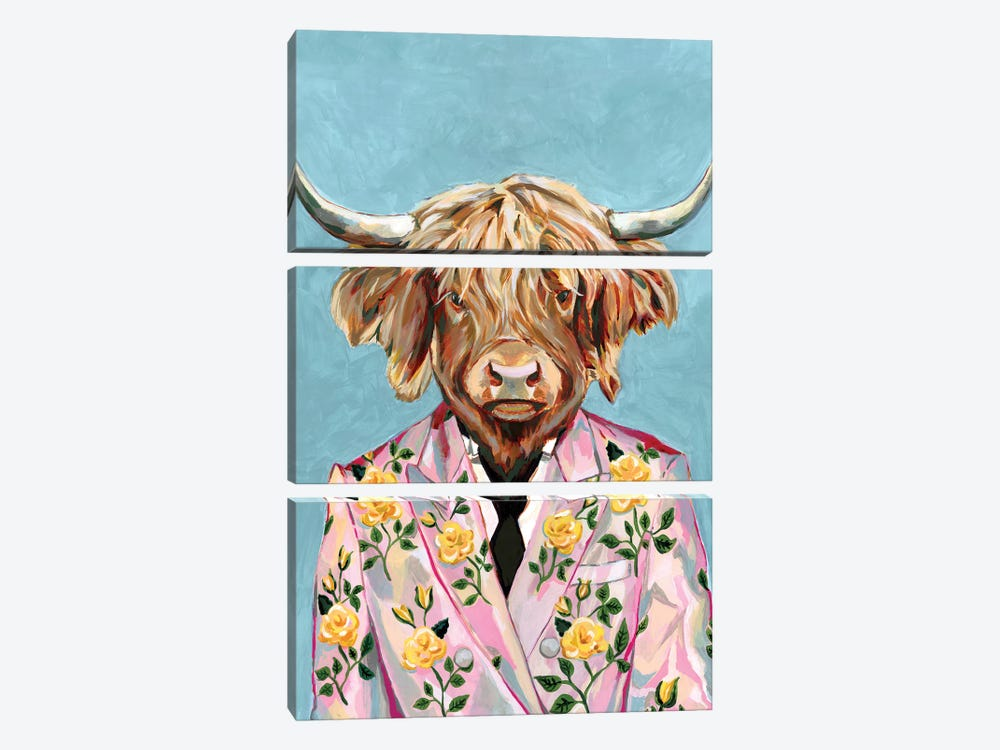 Gucci Cow by Heather Perry 3-piece Canvas Wall Art