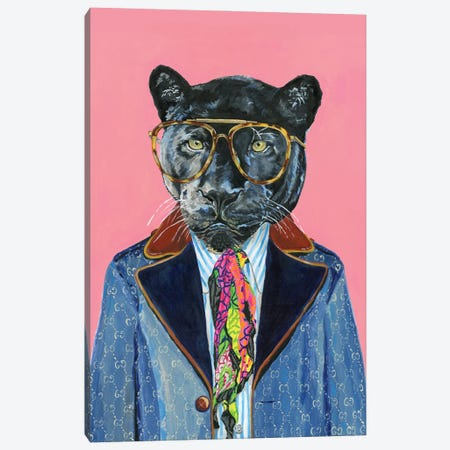 Gucci Panther Canvas Print #HPE72} by Heather Perry Art Print