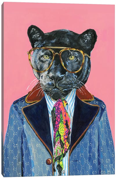 Gucci Panther Canvas Art Print