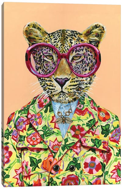 Gucci Leopard Canvas Art Print