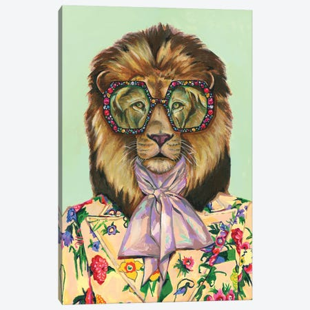 Gucci Lion Canvas Print #HPE74} by Heather Perry Canvas Artwork