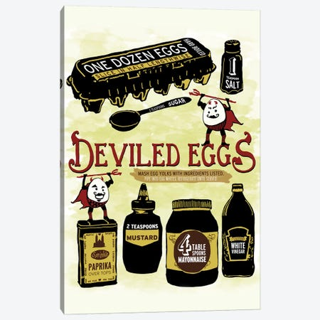 Deviled Eggs Canvas Print #HPE8} by Heather Perry Art Print