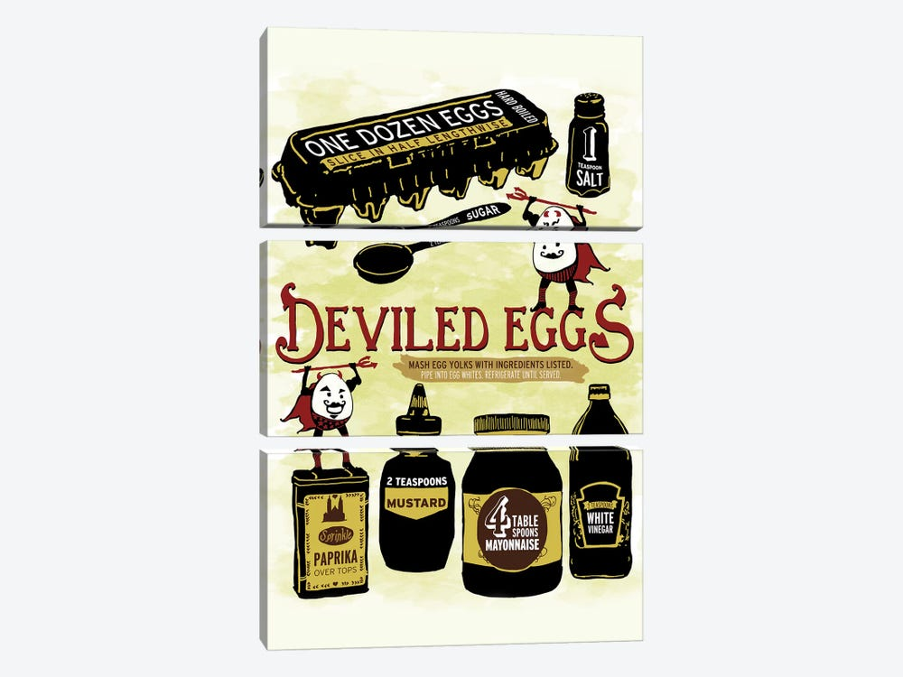Deviled Eggs by Heather Perry 3-piece Canvas Artwork
