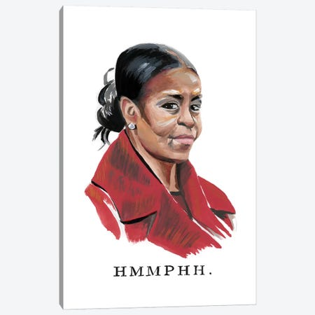Disapproving Michelle Obama Canvas Print #HPE9} by Heather Perry Art Print