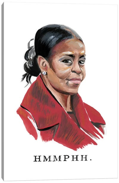 Disapproving Michelle Obama Canvas Art Print