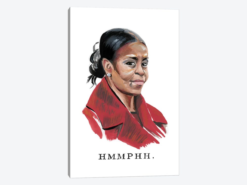 Disapproving Michelle Obama 1-piece Canvas Art Print