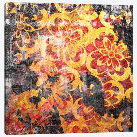 Flourished Floral Torn Canvas Print #HPP16} by 5by5collective Canvas Art Print