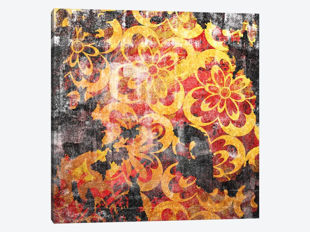 Flourished Floral Torn by 5by5collective 1-piece Canvas Artwork