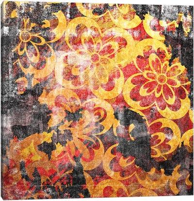 Flourished Floral Torn Canvas Art Print