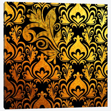 Incoherent Fragment in Black & Gold Canvas Print #HPP17} by 5by5collective Art Print