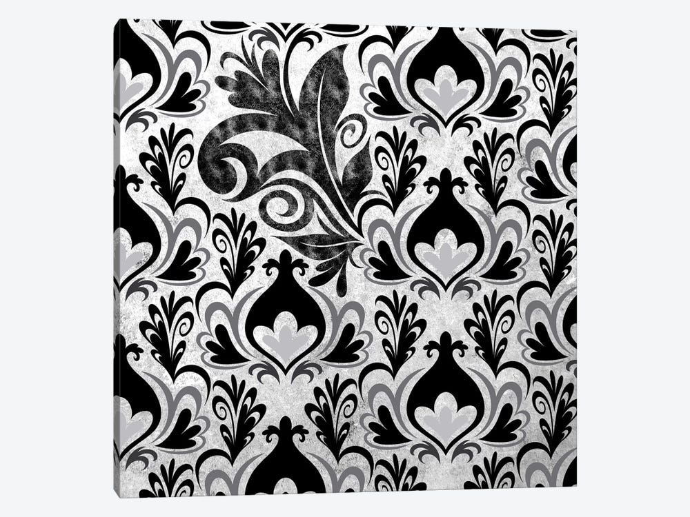 Incoherent Fragment in Black & White by 5by5collective 1-piece Canvas Print