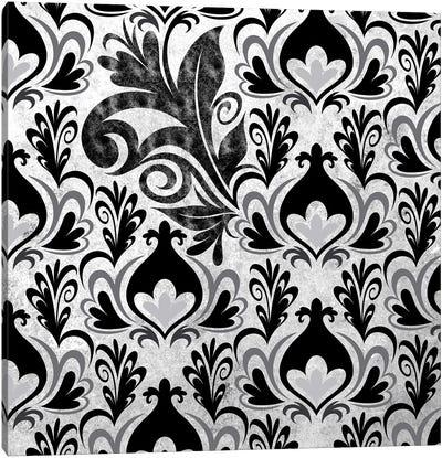 Incoherent Fragment in Black & White Canvas Art Print