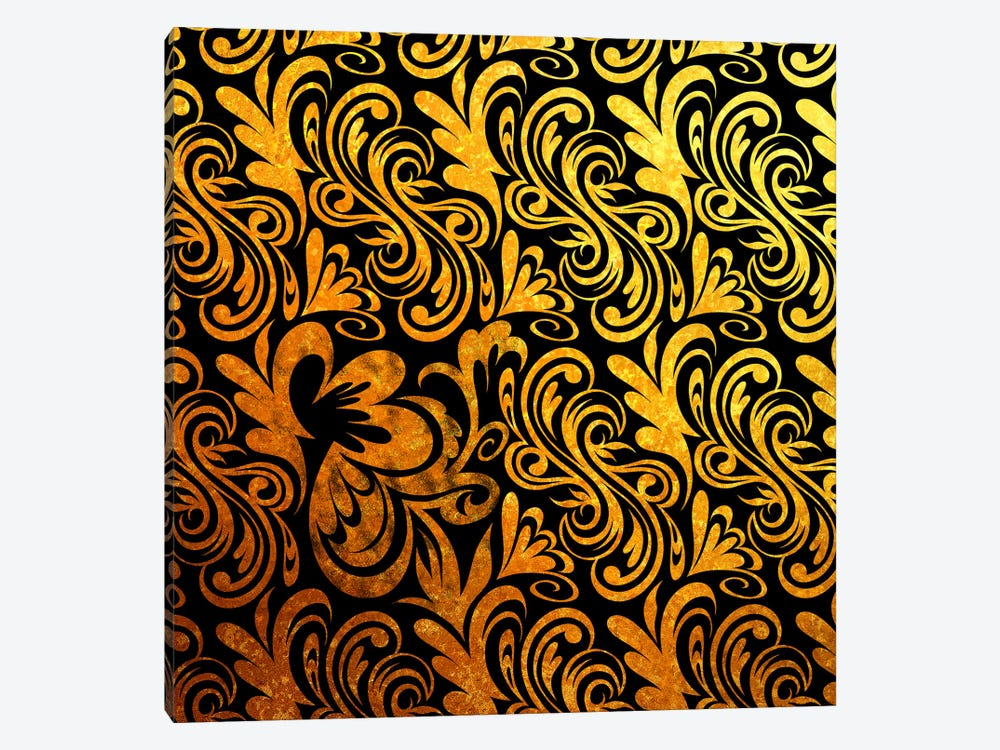 Element of Peace in Black & Gold 1-piece Canvas Artwork