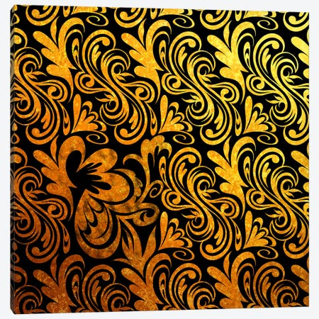 Element of Peace in Black & Gold Canvas Print #HPP1} by 5by5collective Canvas Art Print