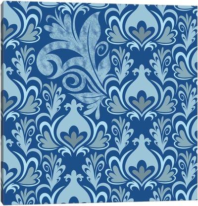 Incoherent Fragment in Blue & Light Blue Canvas Art Print