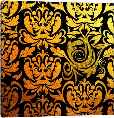 Modular Movement in Black & Gold Canvas Art Print