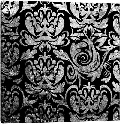 Modular Movement in Black & Silver Canvas Art Print