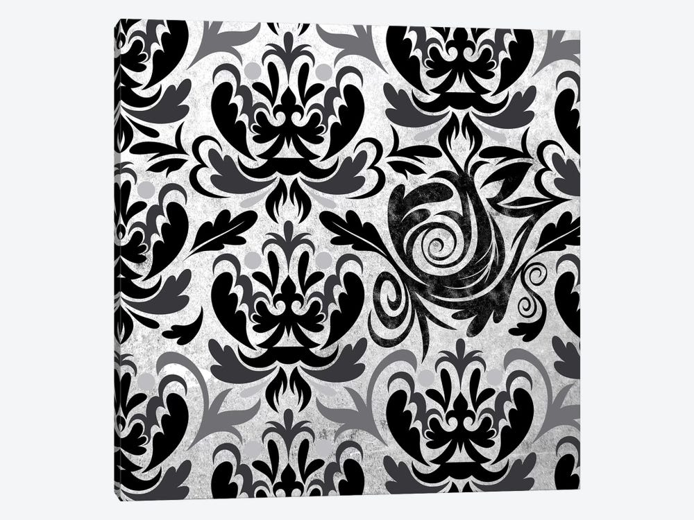 Modular Movement in Black & White by 5by5collective 1-piece Canvas Wall Art