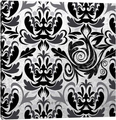 Modular Movement in Black & White Canvas Art Print